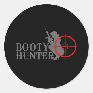 Classy Booty Hunter Classic Round Sticker