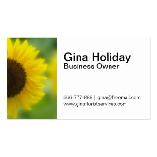 Classy, Bright and cheerful sunflower Business Card