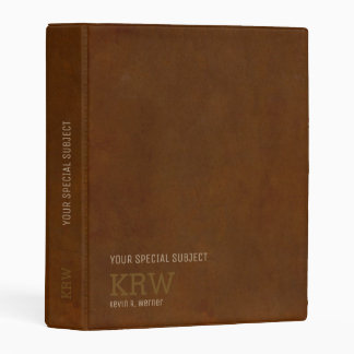 classy brown aged texture with special subject mini binder