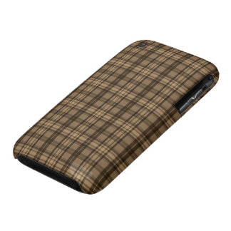 Classy Brown and Plaid Patterns iPhone 3 Cover
