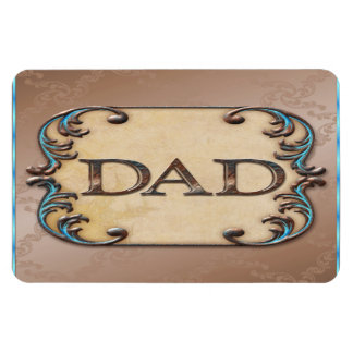 Classy Brown & Blue Father's Day Flexible Magnets
