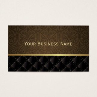 Classy Brown Damask Business Card