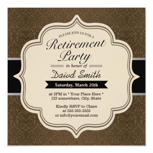 Classy Brown Damask Re...
