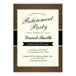 Classy Brown Damask Retirement Party Invitations at Zazzle