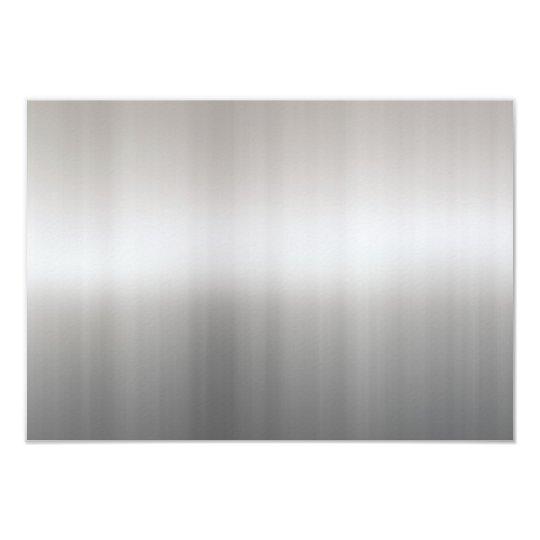 Classy Brushed Aluminum Card