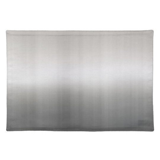 Classy Brushed Aluminum Cloth Placemat