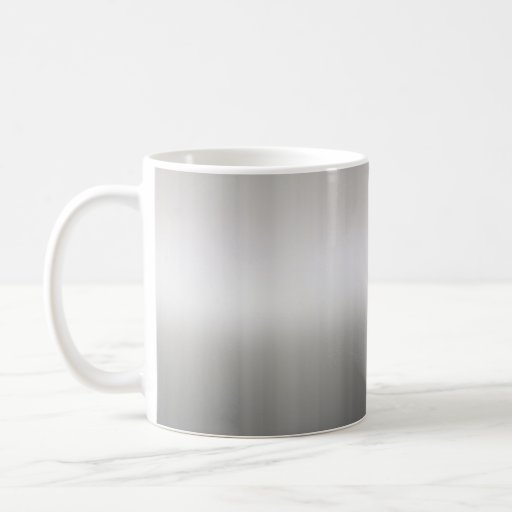 Classy Brushed Aluminum Coffee Mug