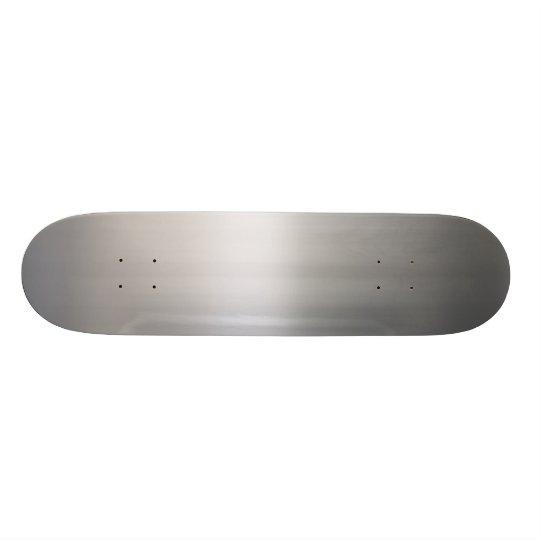 Classy Brushed Aluminum Skateboard Deck