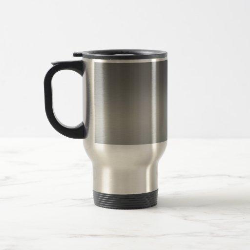 Classy Brushed Metal Textured Coffee Mugs