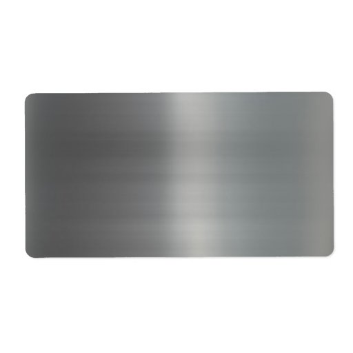 Classy Brushed Metal Textured Custom Shipping Labels