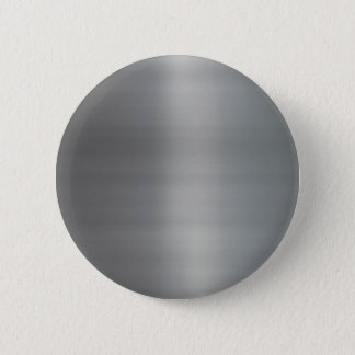 Classy Brushed Metal Textured Pinback Button