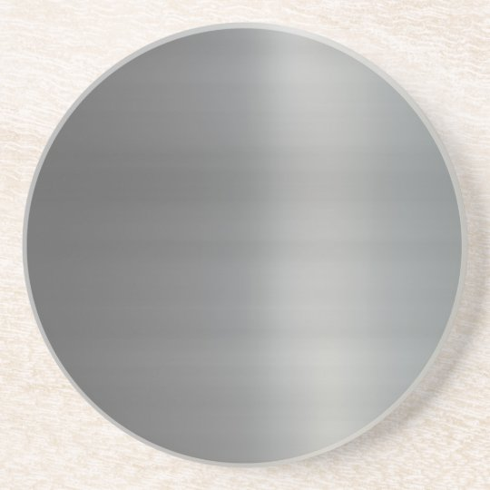 Classy Brushed Metal Textured Sandstone Coaster