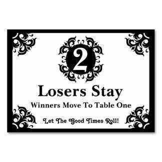 Classy Bunco Table Card #2