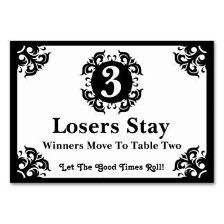 Classy Bunco Table Card #3
