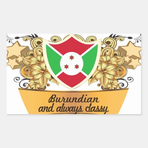 Classy Burundian Sticker