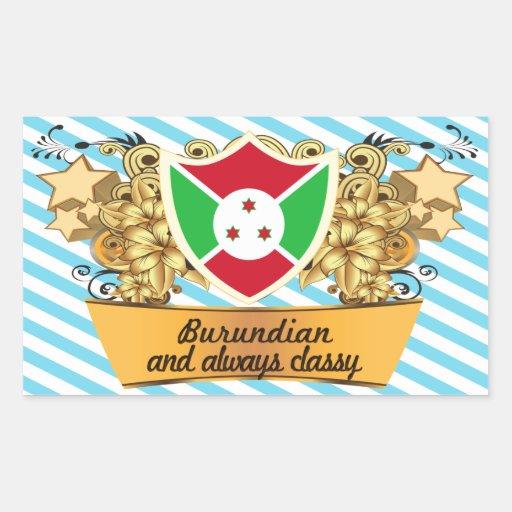Classy Burundian Rectangle Sticker