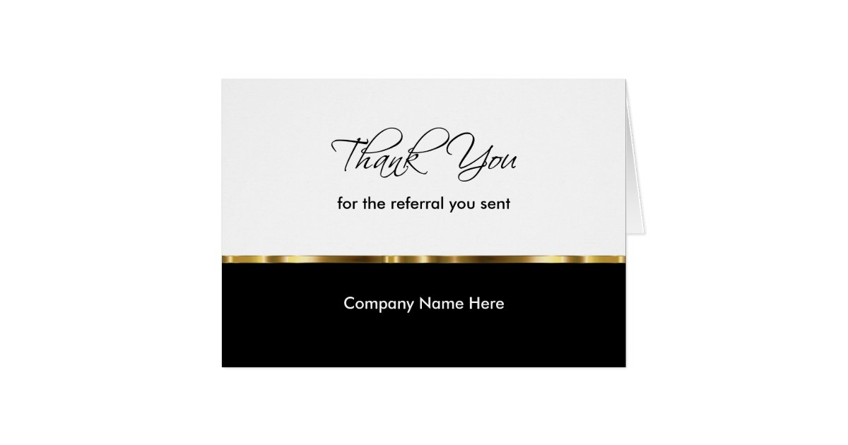 Classy Business Referral Thank You Cards | Zazzle.com
