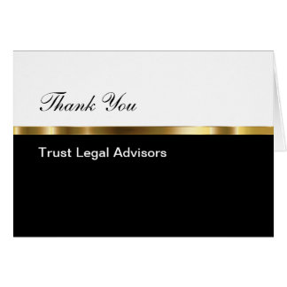 Classy Business Thank You Card