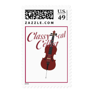 Classy-cal Musician Lights Postage Stamp