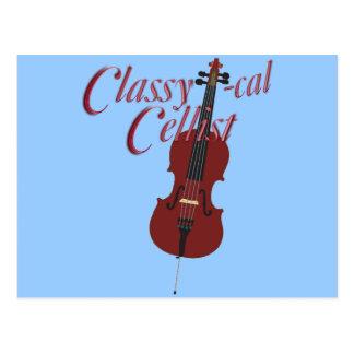 Classy-cal Musician Lights Postcard