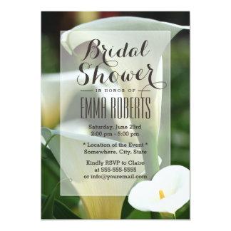 Classy Calla Lily Bridal Shower Invitations