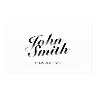 Classy Calligraphic Film Editor Business Card