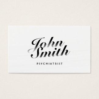 Classy Calligraphic Psychiatrist Business Card