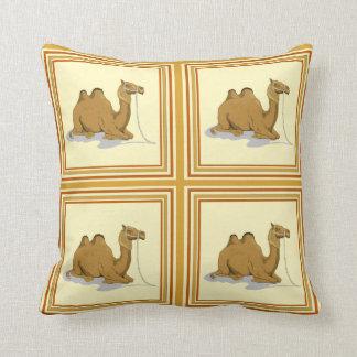 Classy Camel Pattern Tile Throw Pillows