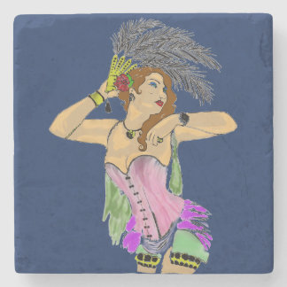 CLASSY CAN CAN DANCER MARBLE COASTER