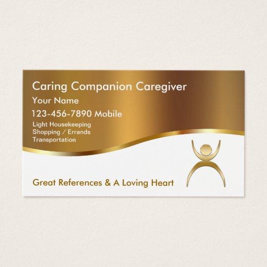Classy caregiver business cards zazzle classy caregiver business cards colourmoves