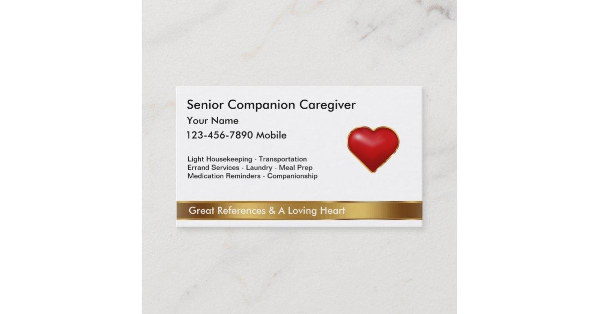 Classy Caregiver Business Cards | Zazzle.com