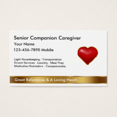 Classy Caregiver Business Cards at Zazzle