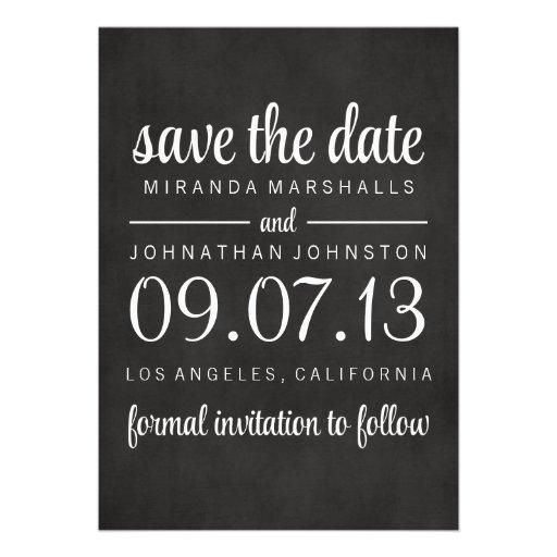 Classy Chalkboard Photo Save The Date Invites