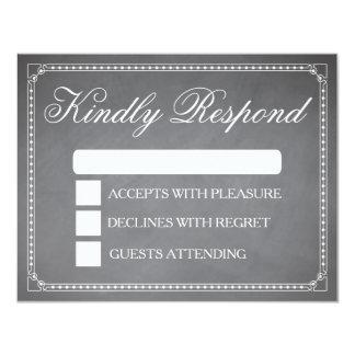 Classy Chalkboard RSVP Card