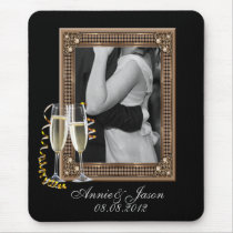 Classy Champagne glasses Wedding Mouse Pad