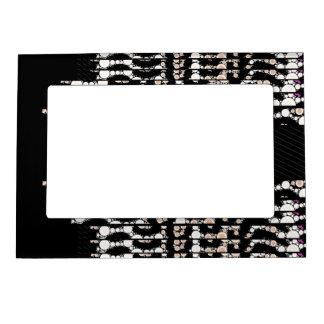 Classy Cheetah Black Pattern Magnetic Frame