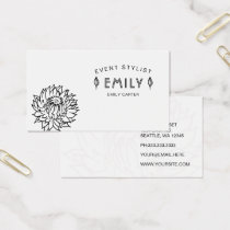 Custom business cards visiting cards mgdezigns classy chic black and white floral business card reheart Image collections