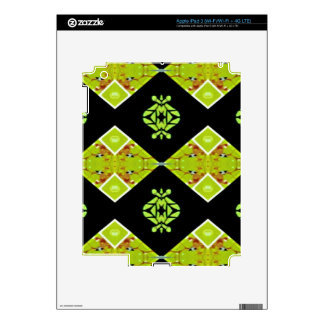 Classy Chic Black Lime Modern Pattern Decals For iPad 3