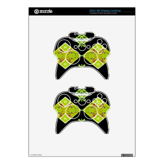 Classy Chic Black Lime Modern Pattern Xbox 360 Controller Skin