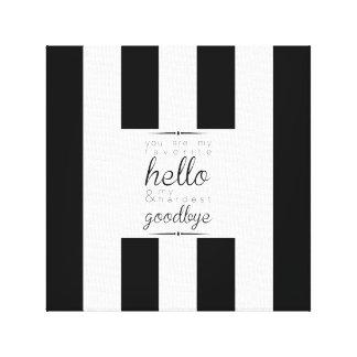 Classy-Chic Canvas - Favorite Hello Canvas Print