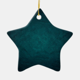 Classy chic elegant leather look christmas tree ornaments