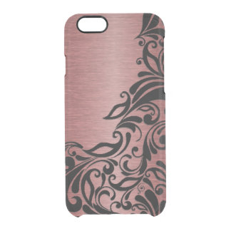 Classy Chic Elegant Paisley Damask Floral Pattern Uncommon Clearly™ Deflector iPhone 6 Case