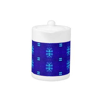 Classy Chic Modern Royal Blue Design Teapot
