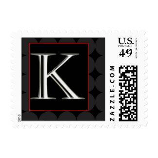 Classy Chic Monogram Postage - Letter K
