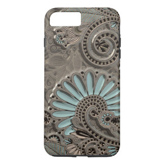 Classy Chic Pretty Damask Paisley Floral Pattern iPhone 7 Plus Case