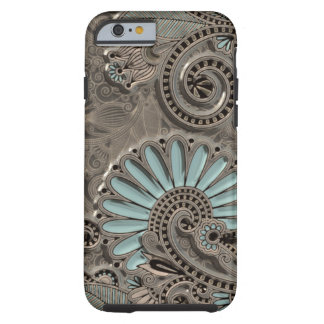 Classy Chic Pretty Damask Paisley Floral Pattern Tough iPhone 6 Case