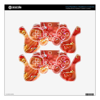 Classy Chic Rose Colored Artistic Abstract PS3 Controller Decals