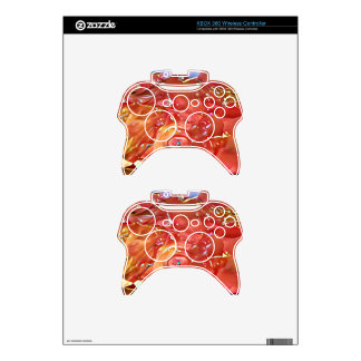 Classy Chic Rose Colored Artistic Abstract Xbox 360 Controller Decal