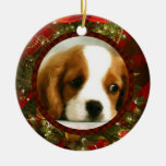 Classy Christmas -Add Your Own Pet or People Image Ceramic Ornament