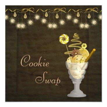 Christmas Themed Classy Christmas Cookie Swap Card